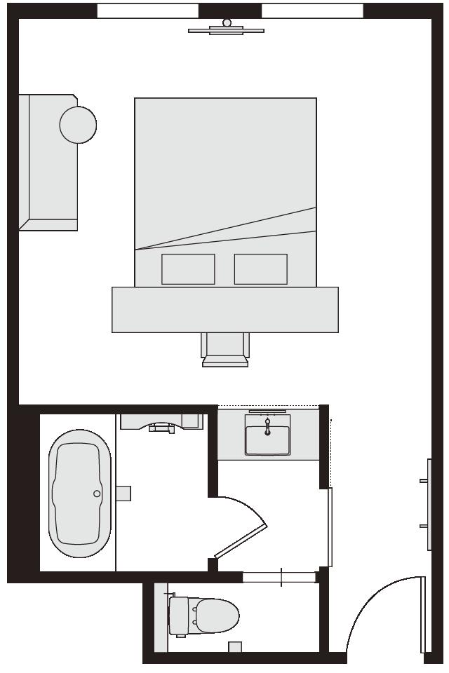 ダブルルーム 図面