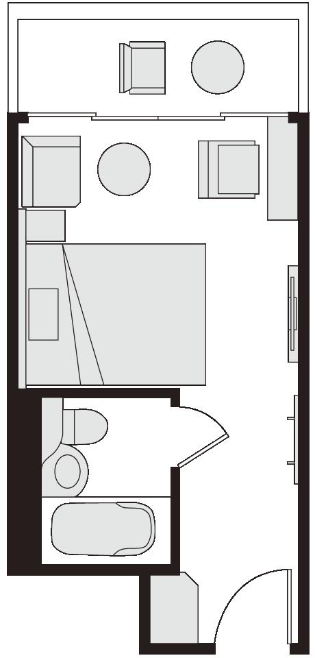 シングルルーム 図面