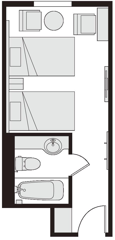 ツインルーム 図面